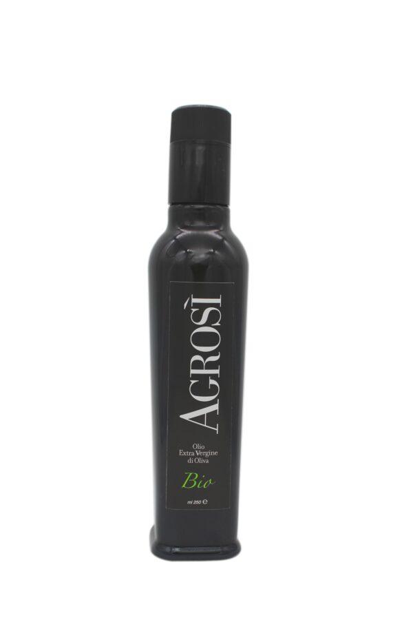 bottiglia 250ml olio fruttato bio azienda agricola agrosi