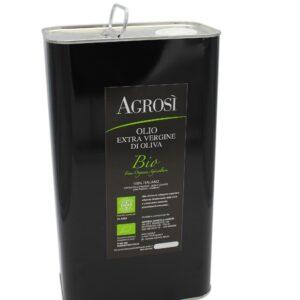 lattina 5l olio fruttato bio azienda agricola agrosi