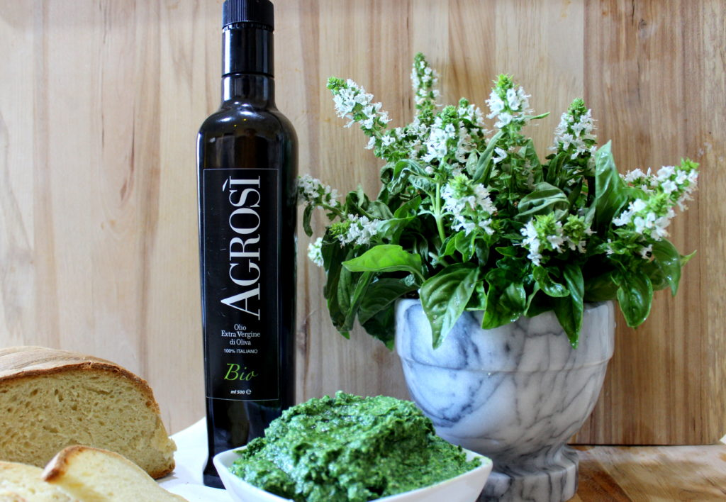 olio bio agrosi supersano salento pesto di basilico